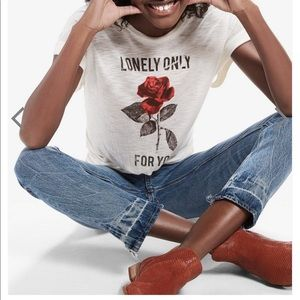 Lucky Brand Lonely Rose Tee